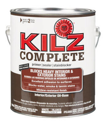 Kilz Complete Oil-Based Interior and Exterior Primer 1 gal. White Mildew-Resistant