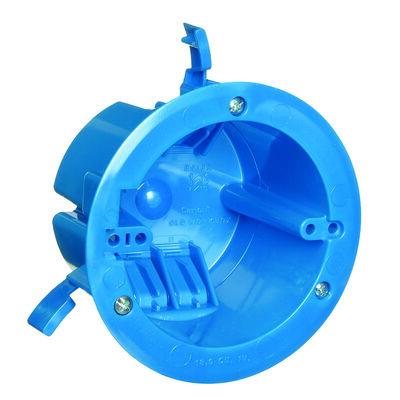 Carlon 2-11/16 in. H Round 1 Gang Electrical Box Blue PVC