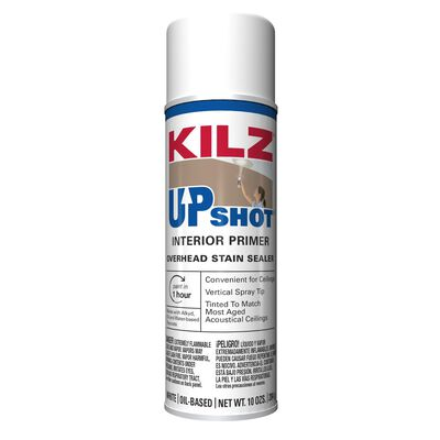 Kilz Up Shot Overhead Stain Oil-Based Interior Sealer 10 oz. White