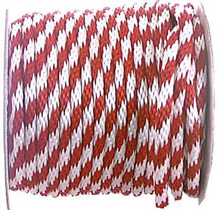 Wellington 5/8 in. Dia. x 200 ft. L Solid Braided Poly Derby Rope Red/White - Sold by the foot