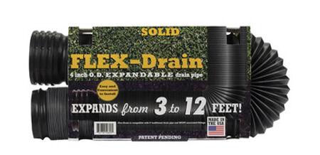 Flex-Drain 12 ft. L x 4 in. Dia. x 12 in. Dia. Poly Drain Pipe