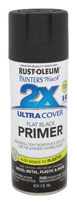 Rust-Oleum Ultra Cover Black Flat 2x Primer Spray 12 oz.
