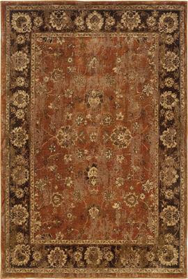 """Oriental Weavers 4465E Casablanca Orange 7'10"""" X 10'10"""" Area Rug"""