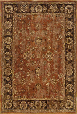 "Oriental Weavers 4465E Casablanca Orange 7'10"" X 10'10"" Area Rug"