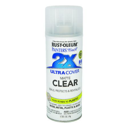Rust-Oleum Painters Touch Matte Clear Spray Paint 12 oz.