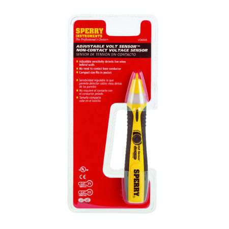 Sperry Voltage Detector 12-1000 VAC Black/Yellow