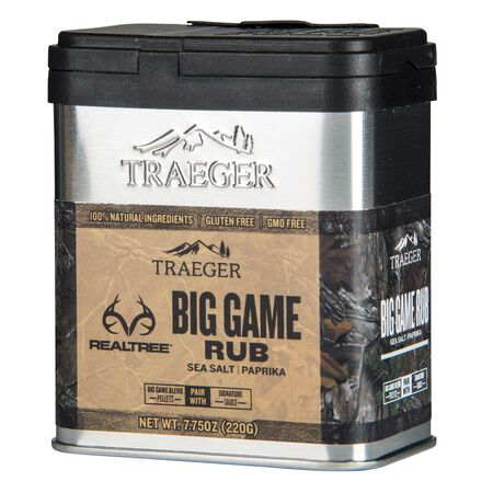 Traeger Realtree Big Game Sea Salt and Paprika Seasoning Rub 8.25 oz.