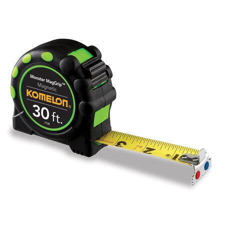 Komelon Tape Measure 1 in. W x 30 ft. L