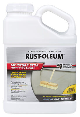 Rust-Oleum Moisture Stop Fortifying Sealer Masonry Waterproof Sealer Clear 1 gal.