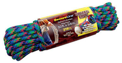 SecureLine 3/8 in. Dia. x 50 ft. L Diamond Braided Poly Rope Multicolored