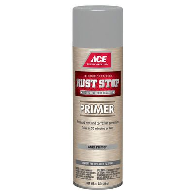 Ace Rust Stop Interior and Exterior Primer 15 oz. Grey