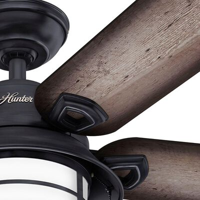 Hunter Key Biscayne 54 in. Indoor/Outdoor Weathered Zinc Gray Ceiling Fan with Light Kit
