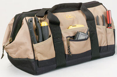 CLC MegaMouth Polyester Tool Bag 12 inside pockets 13 outside pockets 18 in. L x 11 in. W Black