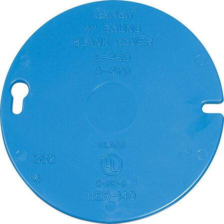 Carlon Round PVC Box Cover For Ceiling Boxes Blue