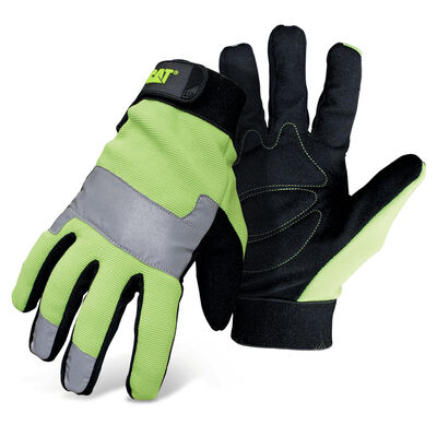 High Visibility Padded Palm Utility with Adjustable Wrist, size Large
