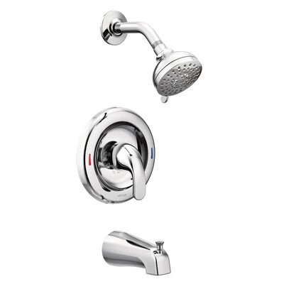Moen Adler Posi-Temp 1 Handle Tub and Shower Faucet Chrome
