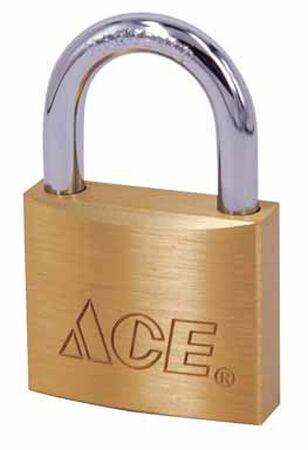 Ace 3/4 in. Single Locking Brass Padlock