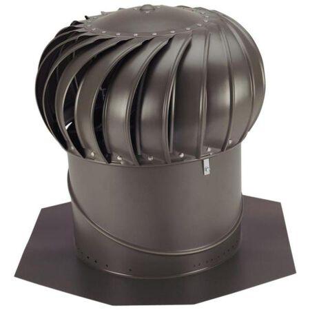 "Vent Turbine w/Base Bronze 14"""