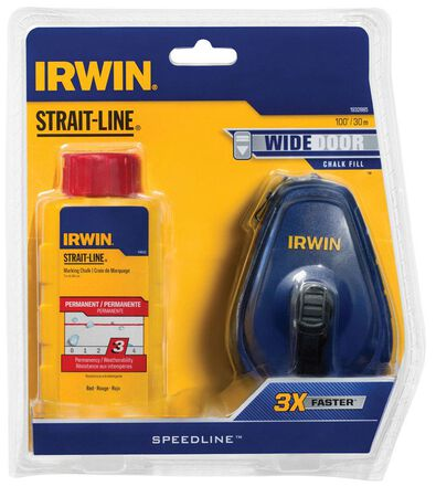 Irwin Strait-Line Chalk and Reel Set 100 ft. L
