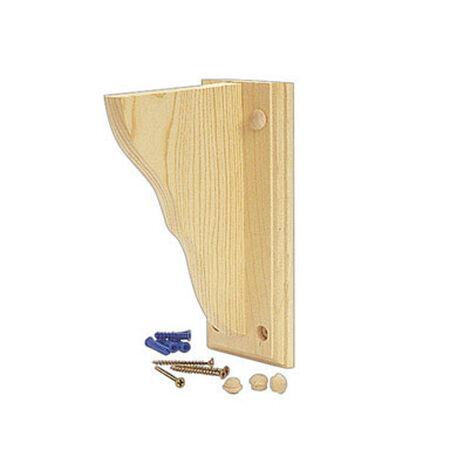 Waddell Wood Satin Shelf Bracket 9-3/4 in. L x 1-1/4 in. W x 13 in. H