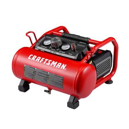 Craftsman 3 gal. Horizontal Portable Air Compressor 155 psi 1.5 hp