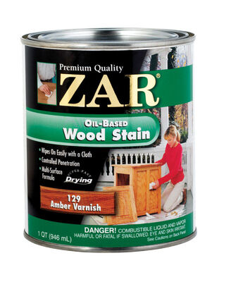 ZAR Semi-Transparent Oil-Based Wood Stain Amber Varnish Tintable 1 qt.