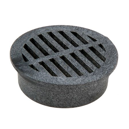 NDS 4 in. Black Polyolefin Round Drain Grate