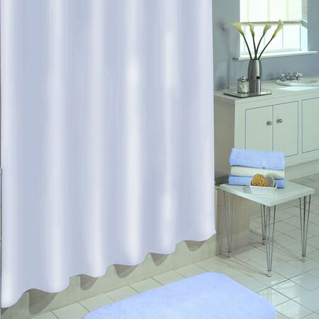 Excell 70 in. H x 71 in. L White Shower Curtain Liner