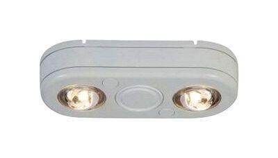 All-Pro Revolve 180 deg. Motion-Sensing LED White Outdoor Flood Light 1 pk