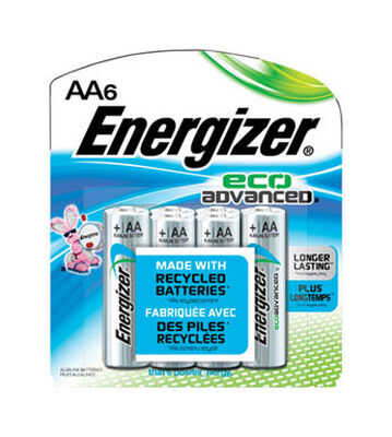 Energizer Eco Advanced AA Alkaline Batteries 1.5 volts 6 pk