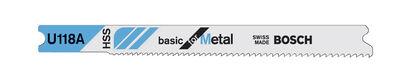 Bosch High Speed Steel U-Shank 3-1/8 in. L Jig Saw Blade 24 TPI 3 pk