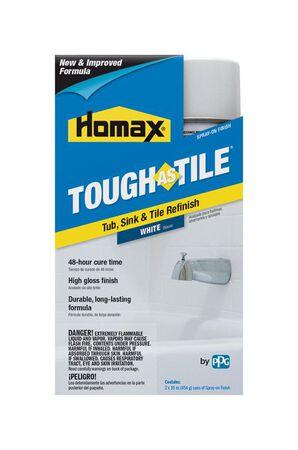 Homax Tough As Tile Epoxy Enamel Spray Paint Gloss White 32 oz.
