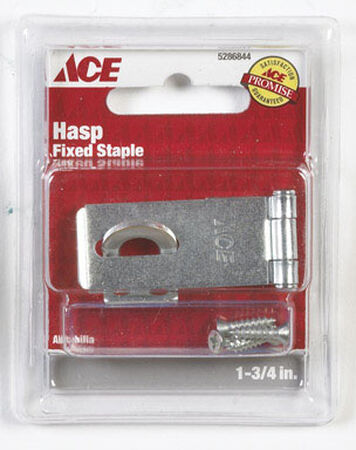 Ace Zinc Fixed Staple Safety Hasp 1-3/4 in. L