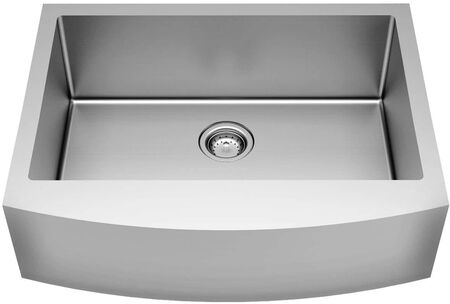 American Standard Suffolk 33-in x 22-in Stainless Steel Single Bowl Tall (8-in or Larger) Undermount Apron Front/Farmhouse Residential Kitchen Sink with Drainboard