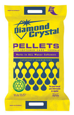 Diamond Crystal Bright & Soft Water Softener Salt Pellets 40 lb.