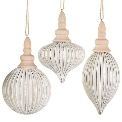 """7.5"""" Grooved Ornament"""