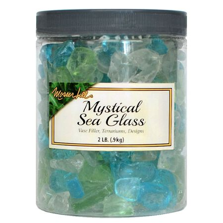 Mosser Lee Mystical Green Decorative Stone Sea Glass 2 lb.