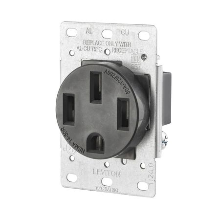 Leviton Electrical Receptacle 50 amps 14-50R 125/250 volts Black