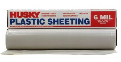 Berry Plastics Film-Gard Plastic Sheeting 6 mil x 10 ft. W x 100 ft. L Polyethylene Clear