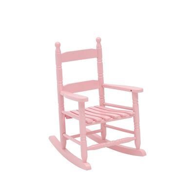 Jack Post Pink Wood Knollwood Kid's Rocking Chair