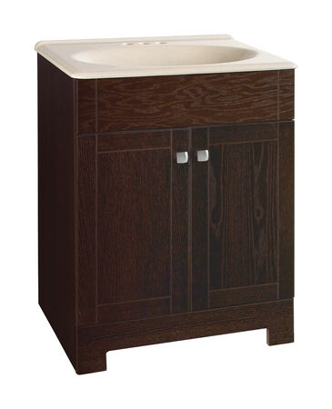 Continental Cabinets Sedona Single Java Vanity and Top Combo 24 in. W x 18 in. D x 32 in. H