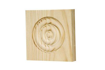 Alexandria Moulding Casing Trim Block Pine 3-3/4 in. H x 3-3/4 in. W x 3/4 in. D