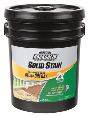 Rust-Oleum RockSolid 2X Solid Color Water-Based Deck Resurfacer Gray Tintable 4.53 gal.