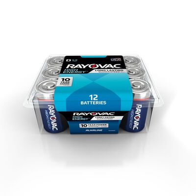 Rayovac D Alkaline Batteries 1.5 volts 12 pk