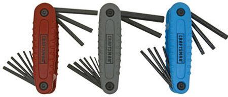 Craftsman Fold-Up Metric and SAE Hex Key Set 24 pc.