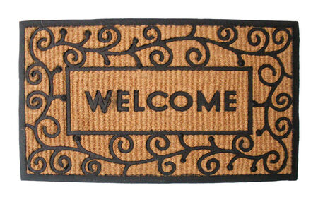 J&M Home Fashions Black Coir and Rubber Nonslip Doormat 30 in. L x 18 in. W