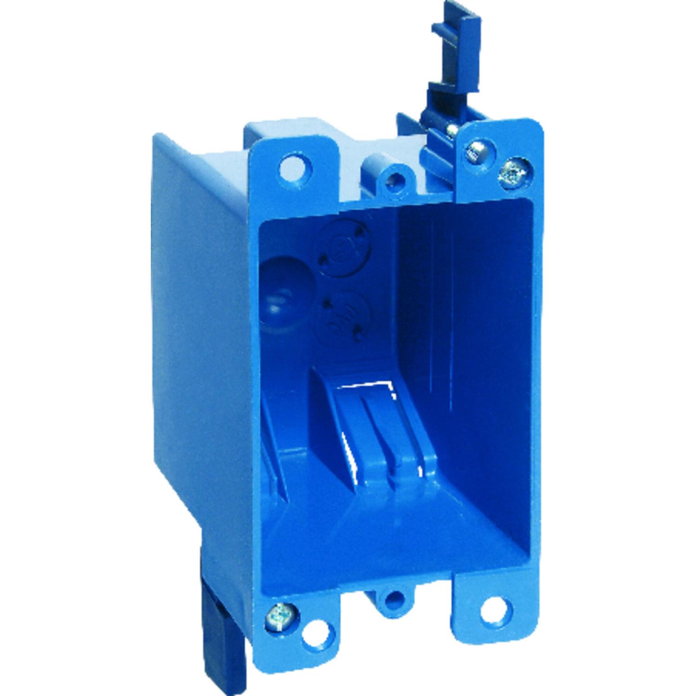 Carlon  3-3//4 in H Rectangle  1 Gang  Outlet Box  Blue  PVC
