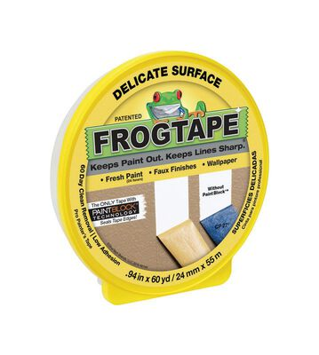 FrogTape 0.94 in. W x 60 yd. L Delicate Surface Painter's Tape Low Strength Yellow 1 pk