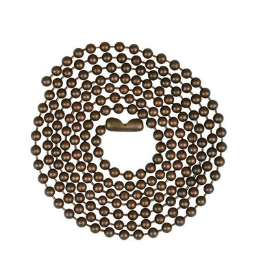 Jandorf Beaded Chain Rustic Bronze 3 ft. L 1 pk