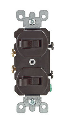 Leviton 1 15 amps Brown Combination Combination Switch 1 Combination